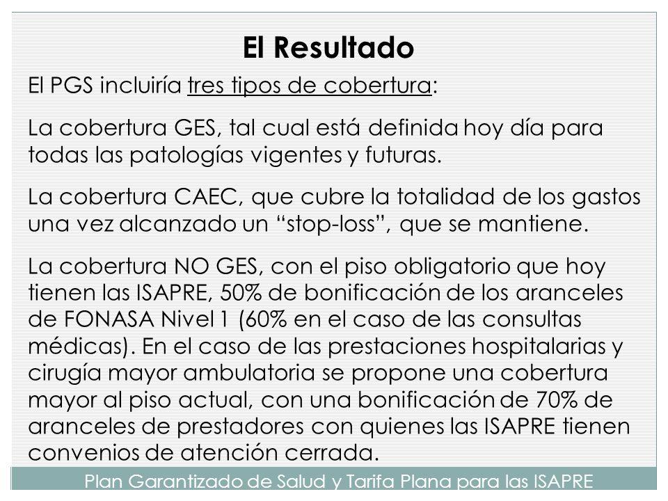 Plan Garantizado de Salud y Tarifa Plana para las ISAPRE El PGS solidariza los riesgos y resuelve el planteamiento realizado por el Tribunal Constituc