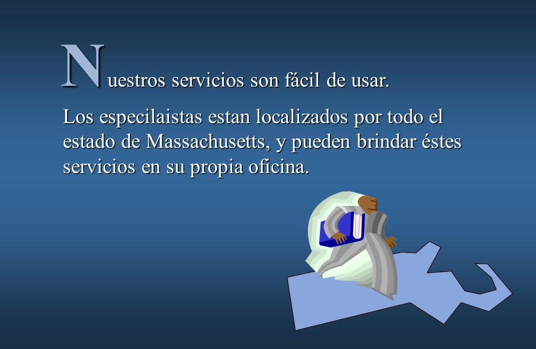 uestros servicios son fácil de usar.