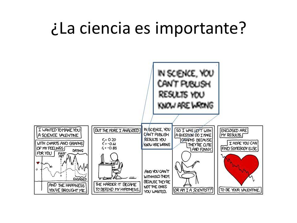 ¿La ciencia es importante?