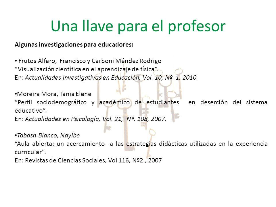 Algunas investigaciones para educadores: Frutos Alfaro, Francisco y Carboni Méndez Rodrigo Visualización científica en el aprendizaje de física. En: A