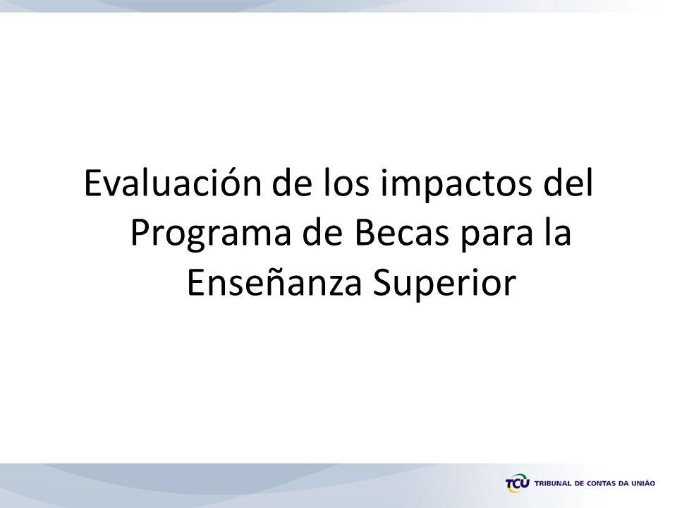 Evaluación de los impactos del Programa de Becas para la Enseñanza Superior
