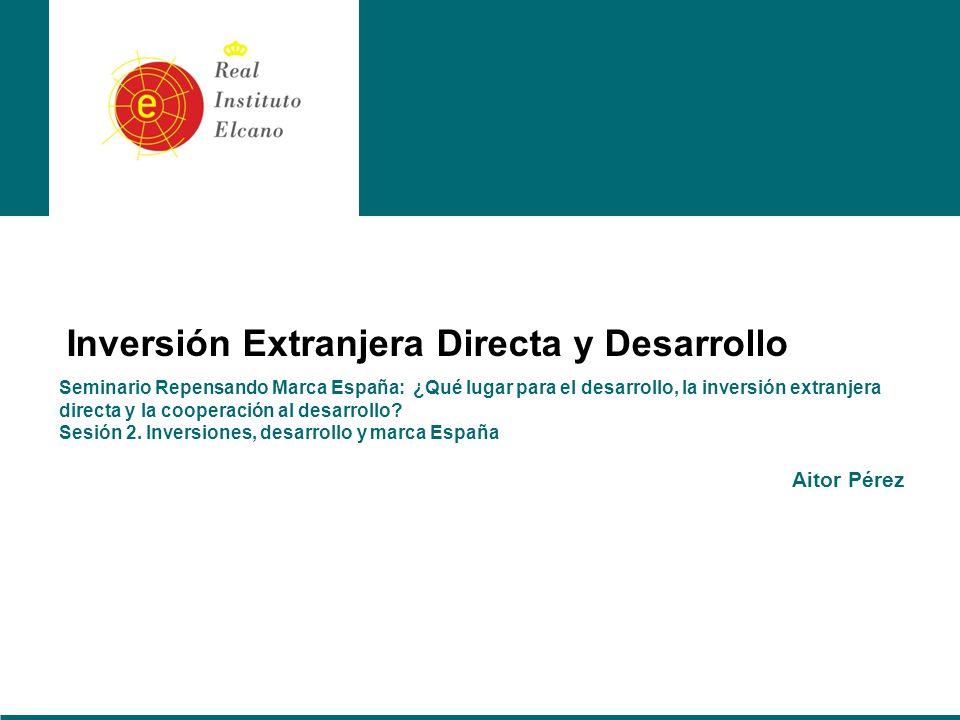 Seminario Repensando Marca España: ¿Qué lugar para el desarrollo, la inversión extranjera directa y la cooperación al desarrollo.