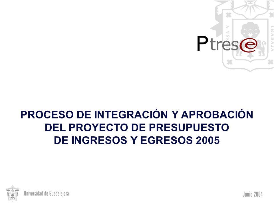 PROCESO DE INTEGRACIÓN Y APROBACIÓN DEL PROYECTO DE PRESUPUESTO DE INGRESOS Y EGRESOS 2005