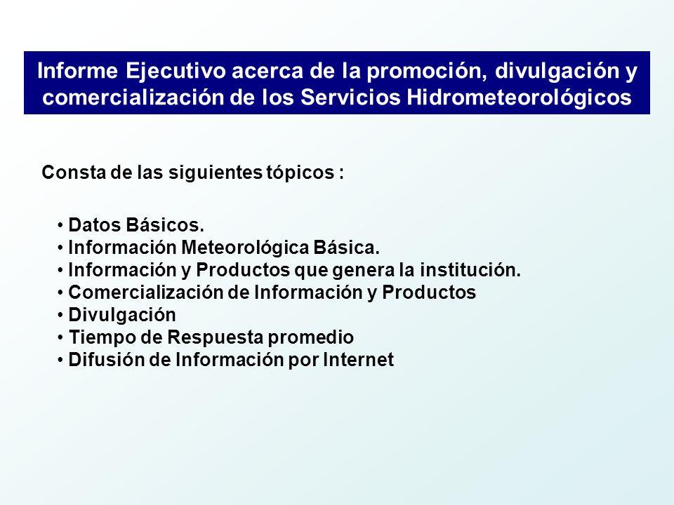 Comercialización de la información Datos y Series