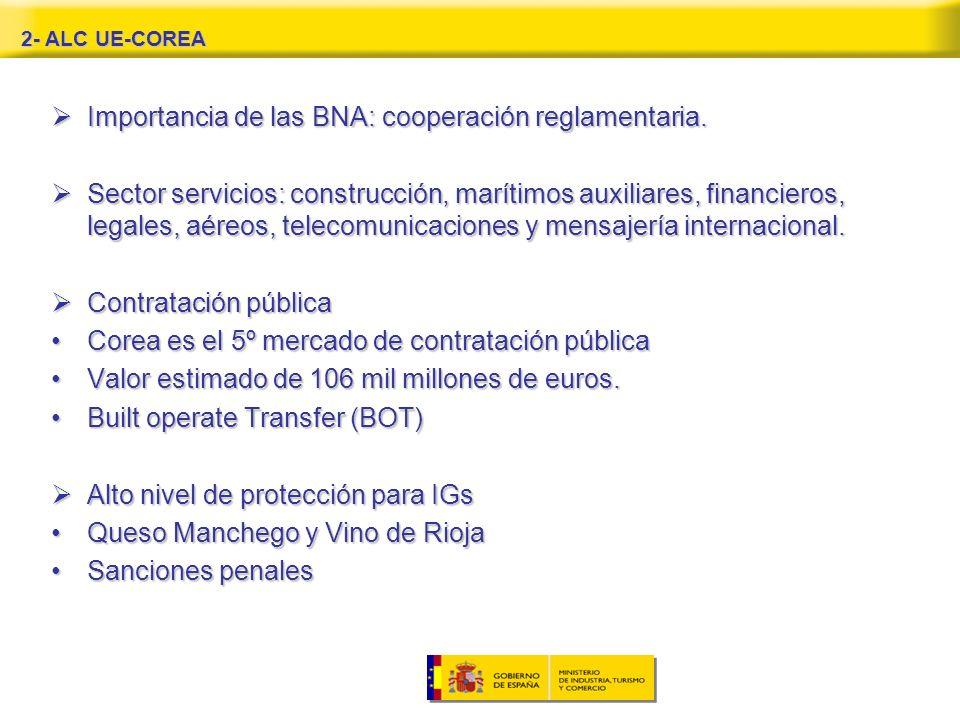Importancia de las BNA: cooperación reglamentaria.