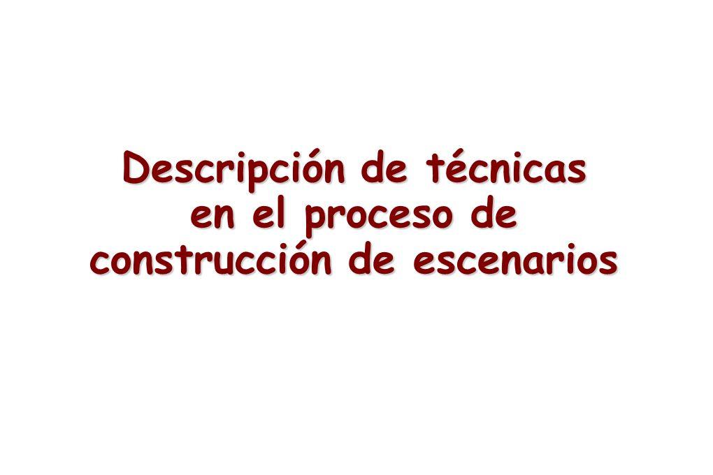 Descripción de técnicas en el proceso de construcción de escenarios