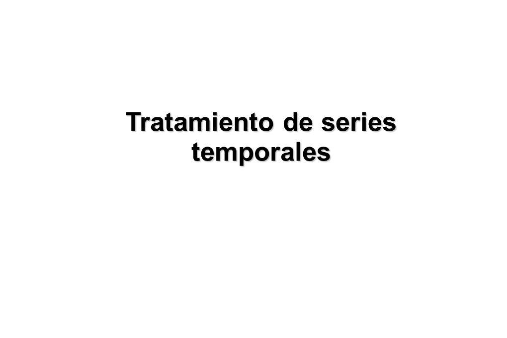 Tratamiento de series temporales