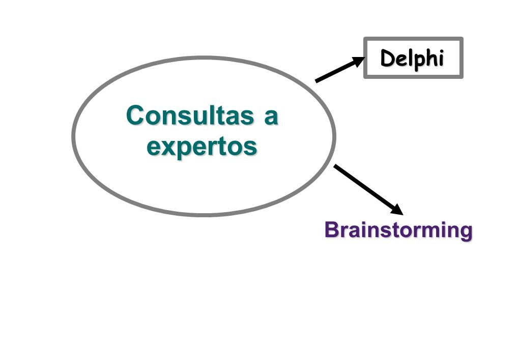 Consultas a expertos Delphi Brainstorming