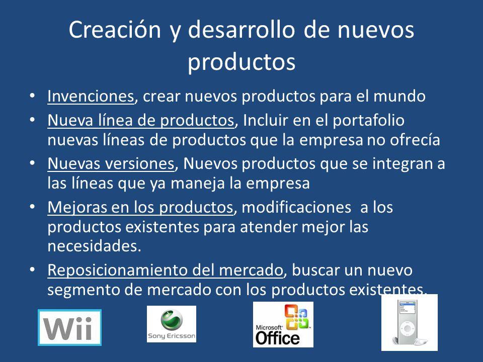 Creación y desarrollo de nuevos productos Invenciones, crear nuevos productos para el mundo Nueva línea de productos, Incluir en el portafolio nuevas