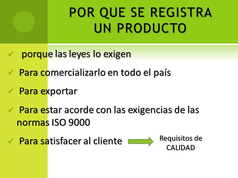 REGISTRO DE PRODUCTO ALIMENTICIO ¿Cuenta con un establecimiento debidamente registrado.