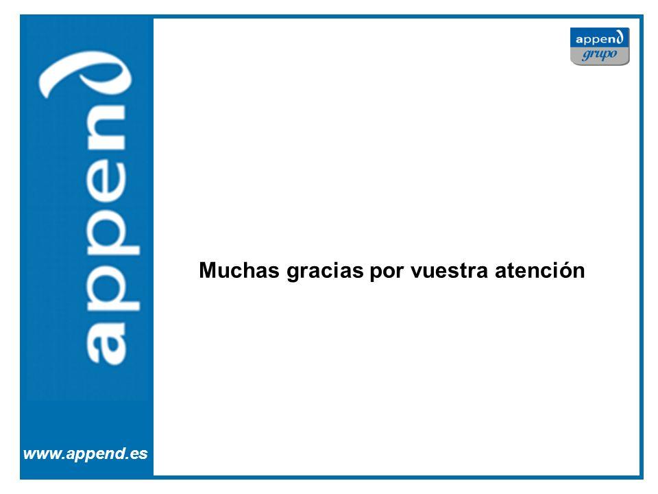 Appe www.append.es Muchas gracias por vuestra atención