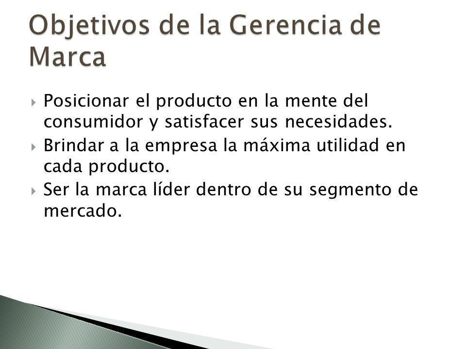 Posicionar el producto en la mente del consumidor y satisfacer sus necesidades.