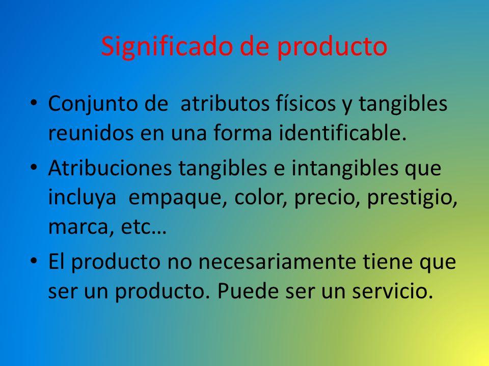 Clasificación de productos según durabilidad o tangibilidad.