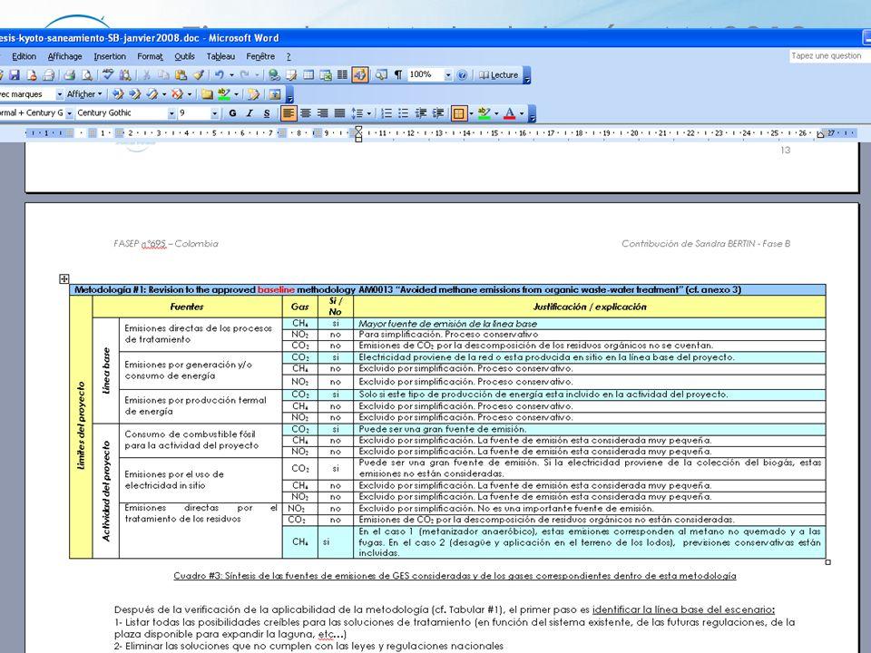 FASEP n°695 Colombia22 Ejemplo – Metodología AM0013 1/ verificar la aplicabilidad