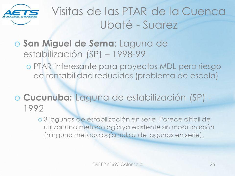 FASEP n°695 Colombia26 Visitas de las PTAR de la Cuenca Ubaté - Suarez o San Miguel de Sema : Laguna de estabilización (SP) – 1998-99 oPTAR interesant