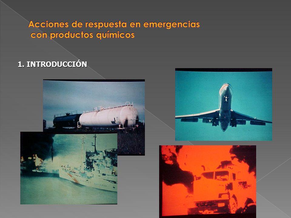 Reconocimiento Control Seguridad Informaciones Evaluación Acciones de respuesta en emergencias con productos químicos 4.