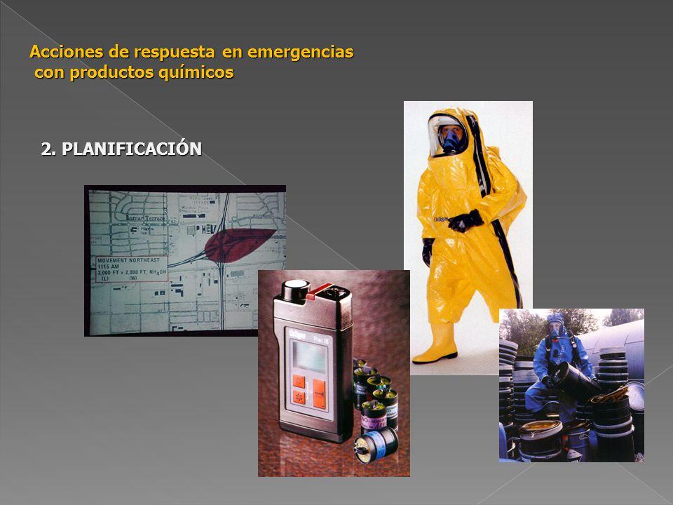 Acciones de respuesta en emergencias con productos químicos 4.