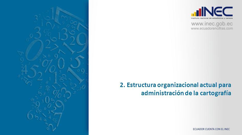 2. Estructura organizacional actual para administración de la cartografía