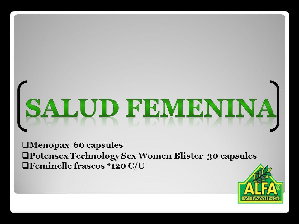 Menopax 60 capsules Potensex Technology Sex Women Blister 30 capsules Feminelle frascos *120 C/U