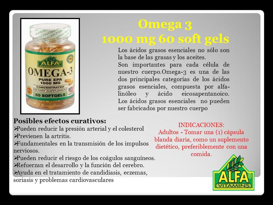 Omega 3 1000 mg 60 soft gels Los ácidos grasos esenciales no sólo son la base de las grasas y los aceites. Son importantes para cada célula de nuestro