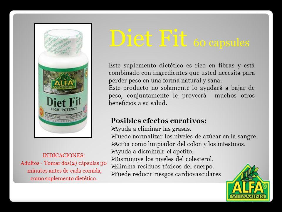 Este suplemento dietético es rico en fibras y está combinado con ingredientes que usted necesita para perder peso en una forma natural y sana. Este pr