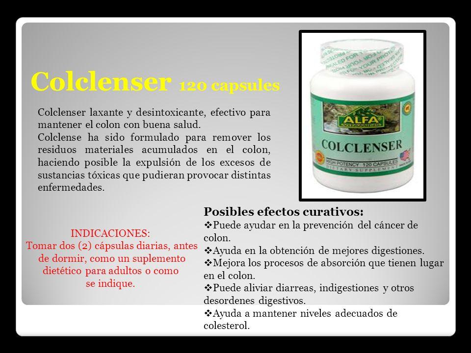 Colclenser 120 capsules Colclenser laxante y desintoxicante, efectivo para mantener el colon con buena salud. Colclense ha sido formulado para remover