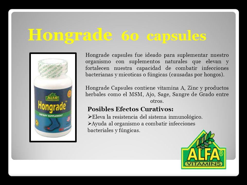 Hongrade 60 capsules Hongrade capsules fue ideado para suplementar nuestro organismo con suplementos naturales que elevan y fortalecen nuestra capacid