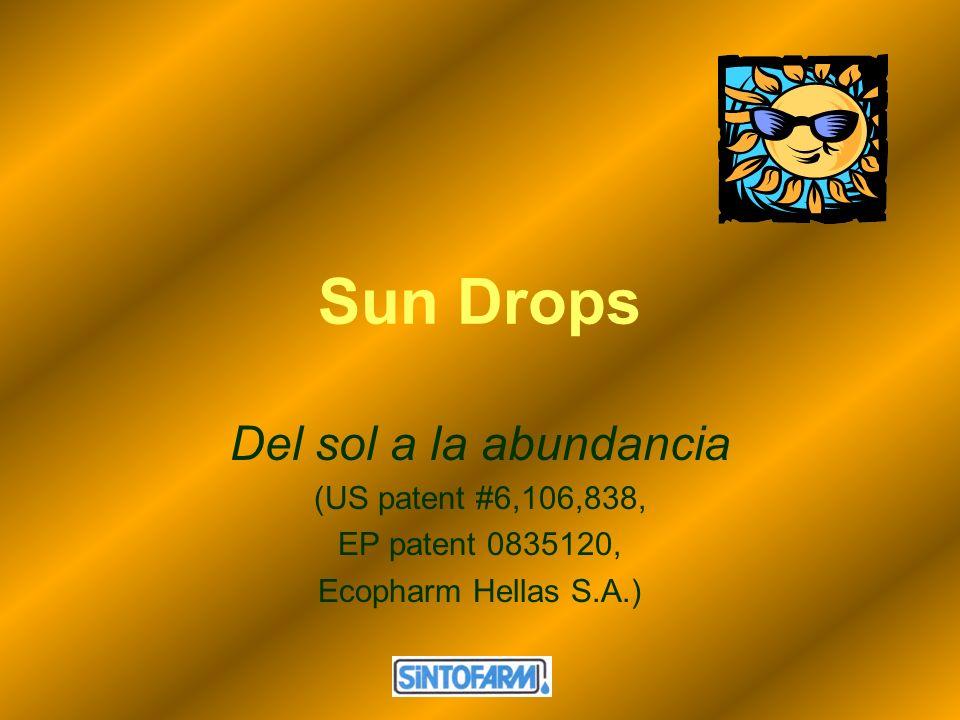 Sun Drops Del sol a la abundancia (US patent #6,106,838, EP patent 0835120, Ecopharm Hellas S.A.)