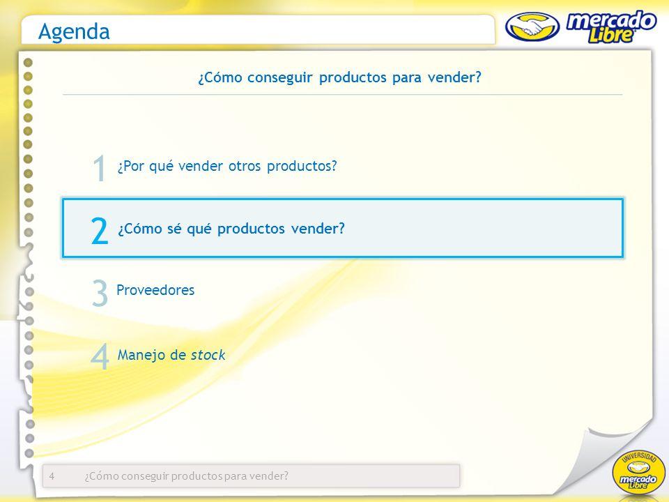 ¿Cómo conseguir productos para vender? Agenda ¿Por qué vender otros productos? 4 1 2 3 ¿Cómo sé qué productos vender? Proveedores Manejo de stock 4 ¿C