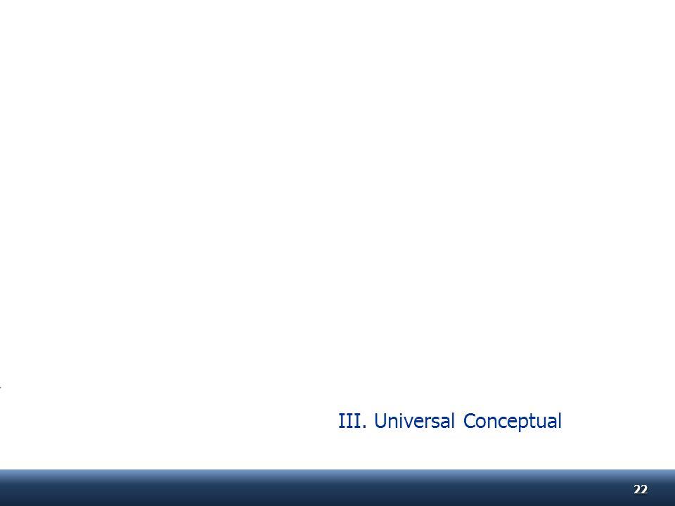 III. Universal Conceptual 2222