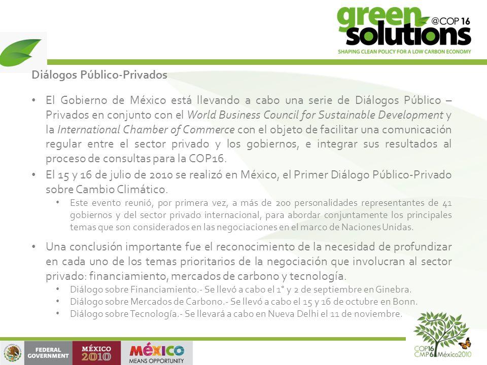 Diálogos Público-Privados El Gobierno de México está llevando a cabo una serie de Diálogos Público – Privados en conjunto con el World Business Counci