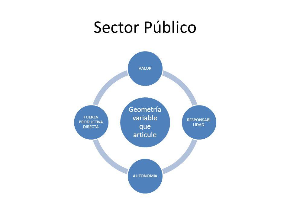 Sector Público Geometría variable que articule VALOR RESPONSABI LIDAD AUTONOMIA FUERZA PRODUCTIVA DIRECTA