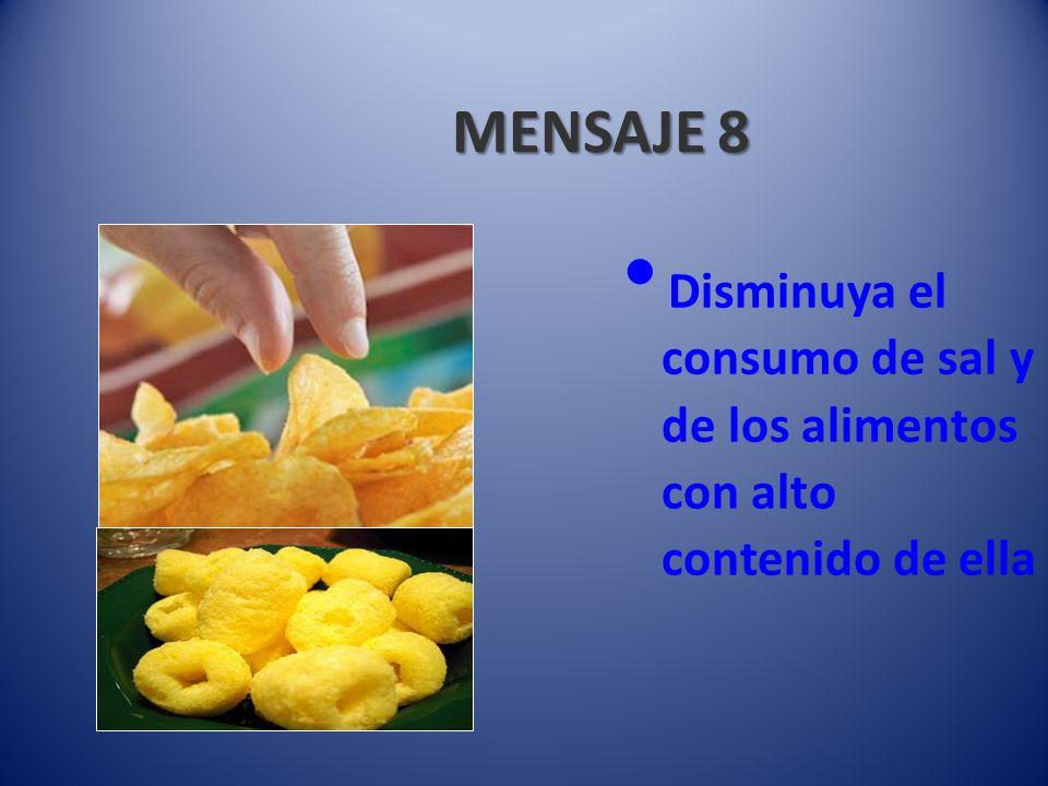MENSAJE 9 Elija dentro de cada grupo de alimentos los más adecuados a su presupuesto familiar