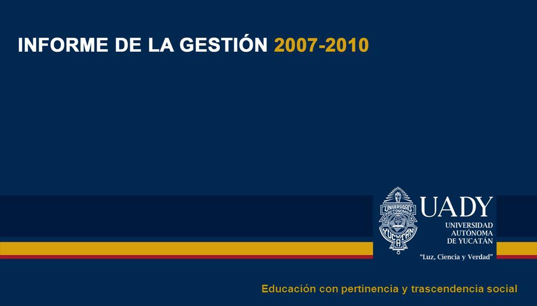 CARTA DEL RECTOR Han transcurrido cuatro años desde que asumí el cargo de Rector de la Universidad Autónoma de Yucatán, por decisión del H.