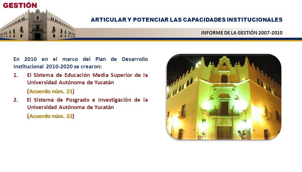 En 2010 en el marco del Plan de Desarrollo Institucional 2010-2020 se crearon: 1.El Sistema de Educación Media Superior de la Universidad Autónoma de
