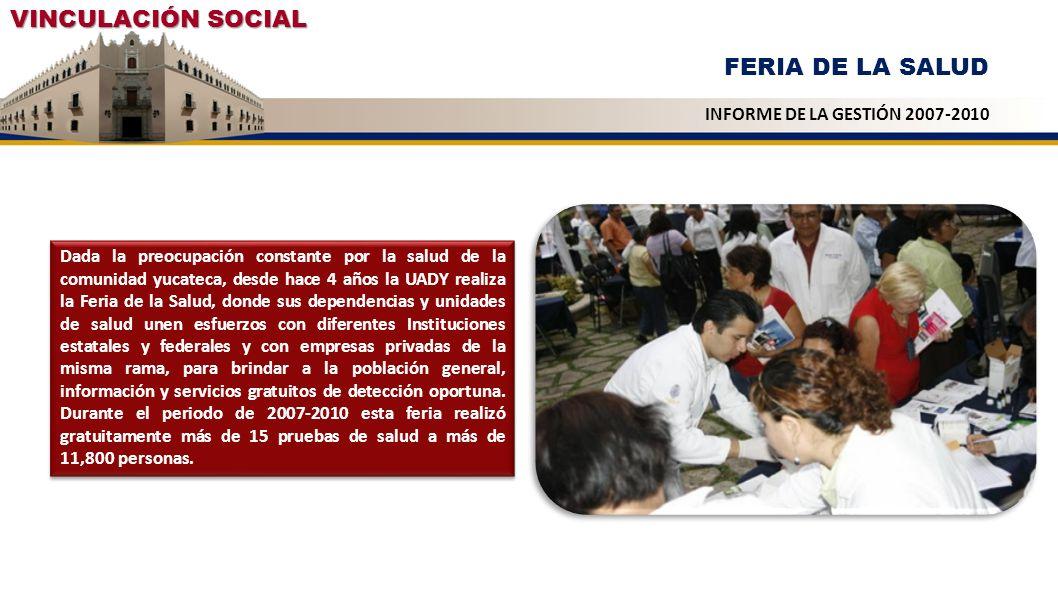 Dada la preocupación constante por la salud de la comunidad yucateca, desde hace 4 años la UADY realiza la Feria de la Salud, donde sus dependencias y