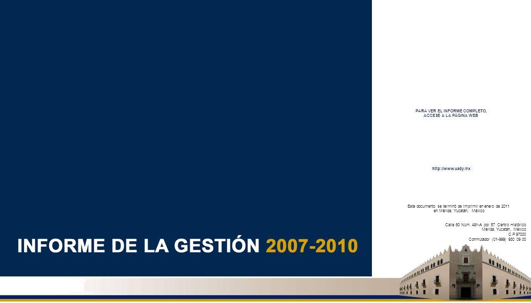 Este documento se terminó de imprimir en enero de 2011 en Mérida, Yucatán, México Calle 60 Núm. 491-A por 57 Centro Histórico Mérida, Yucatán, México