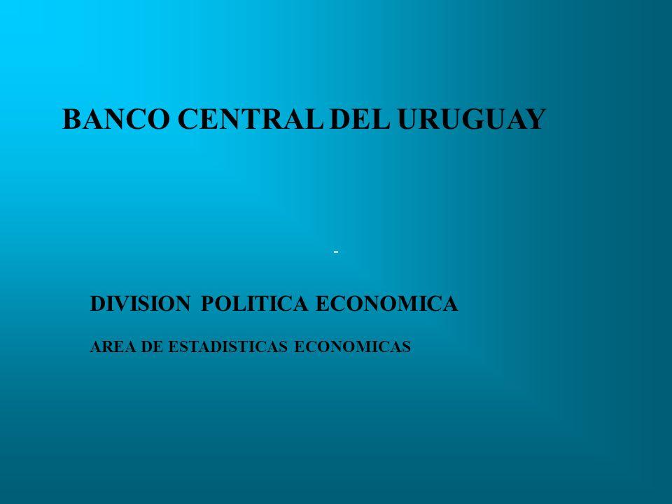 DIVISION POLITICA ECONOMICA AREA DE ESTADISTICAS ECONOMICAS BANCO CENTRAL DEL URUGUAY