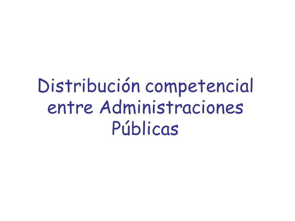 Distribución competencial entre Administraciones Públicas