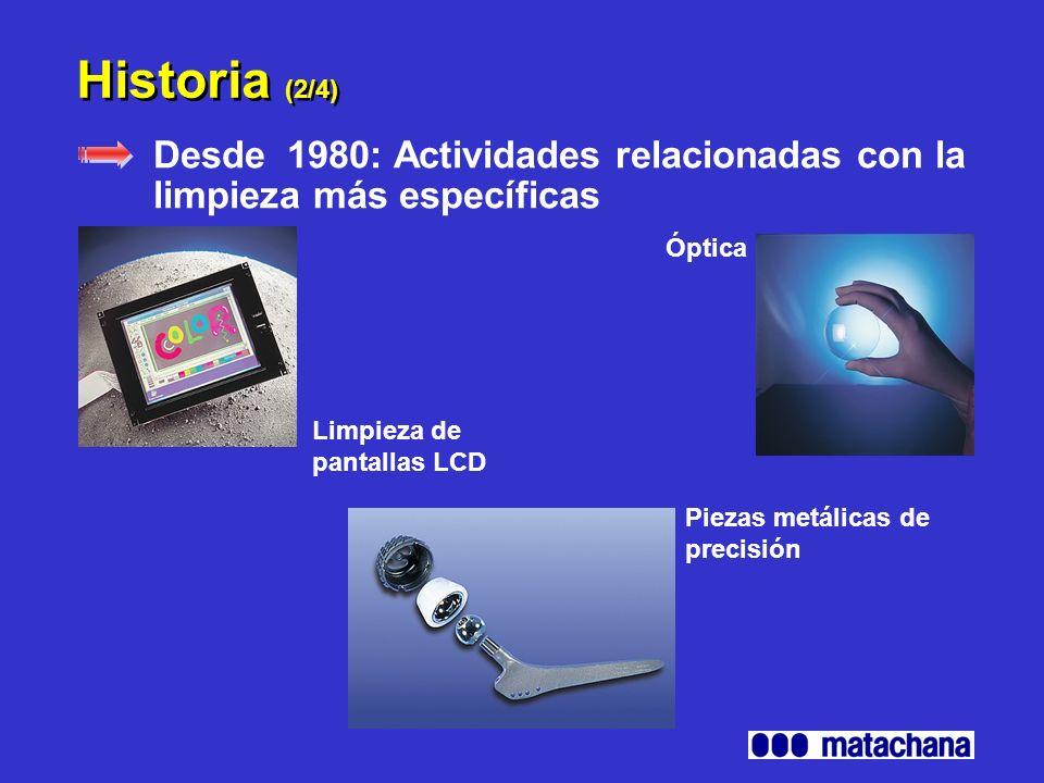 Historia (3/4) Desde 1983: Aplicaciones Médicas Reprocesamiento del instrumental en Centrales de esterilización Desinfección Hospitalaria Marcado CE 1250 internet: www.borer.ch
