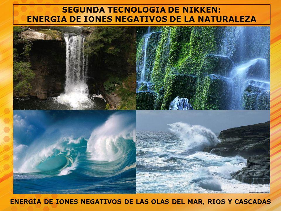SEGUNDA TECNOLOGIA DE NIKKEN: ENERGIA DE IONES NEGATIVOS DE LA NATURALEZA ENERGÍA DE IONES NEGATIVOS DE LAS OLAS DEL MAR, RIOS Y CASCADAS
