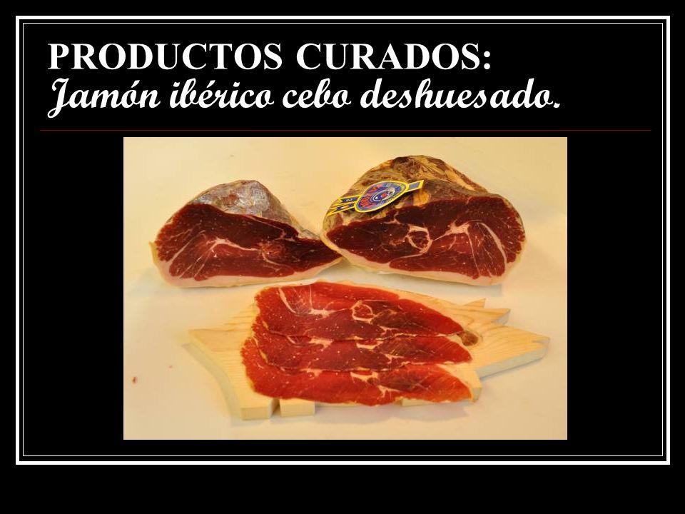 PRODUCTOS CURADOS: Paleta ibérica cebo.