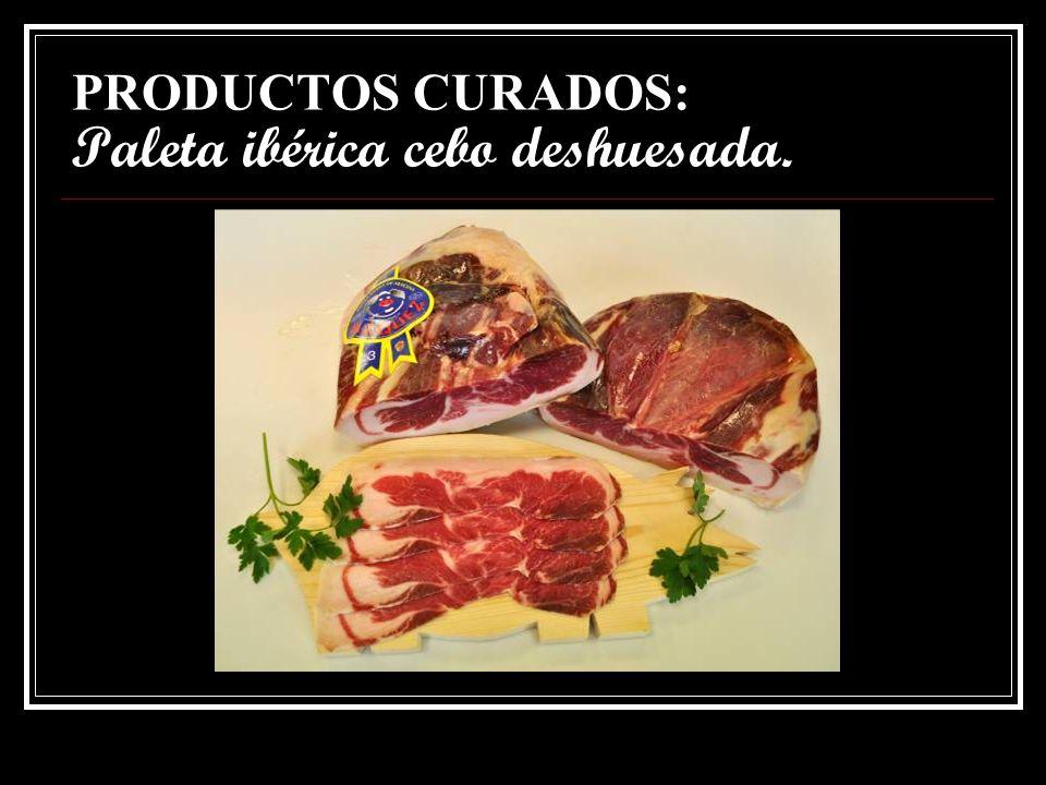 PRODUCTOS CURADOS: Jamón ibérico cebo deshuesado.