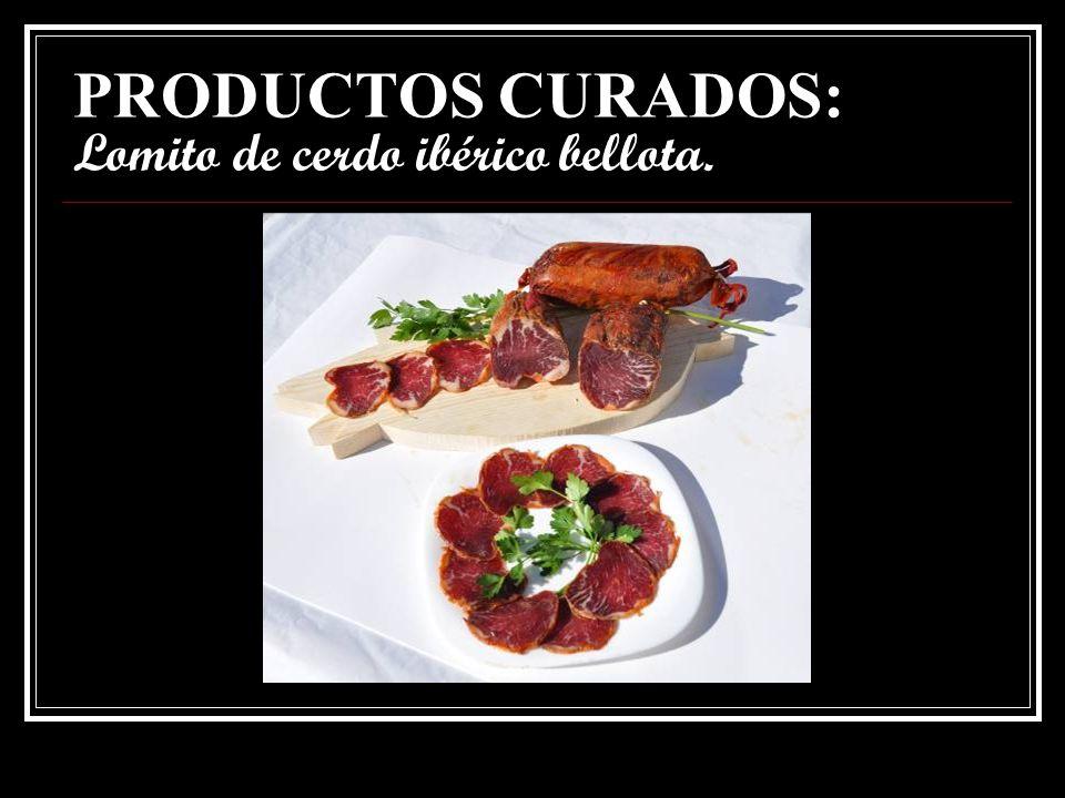 PRODUCTOS CURADOS: Caña de lomo ibérico cebo.