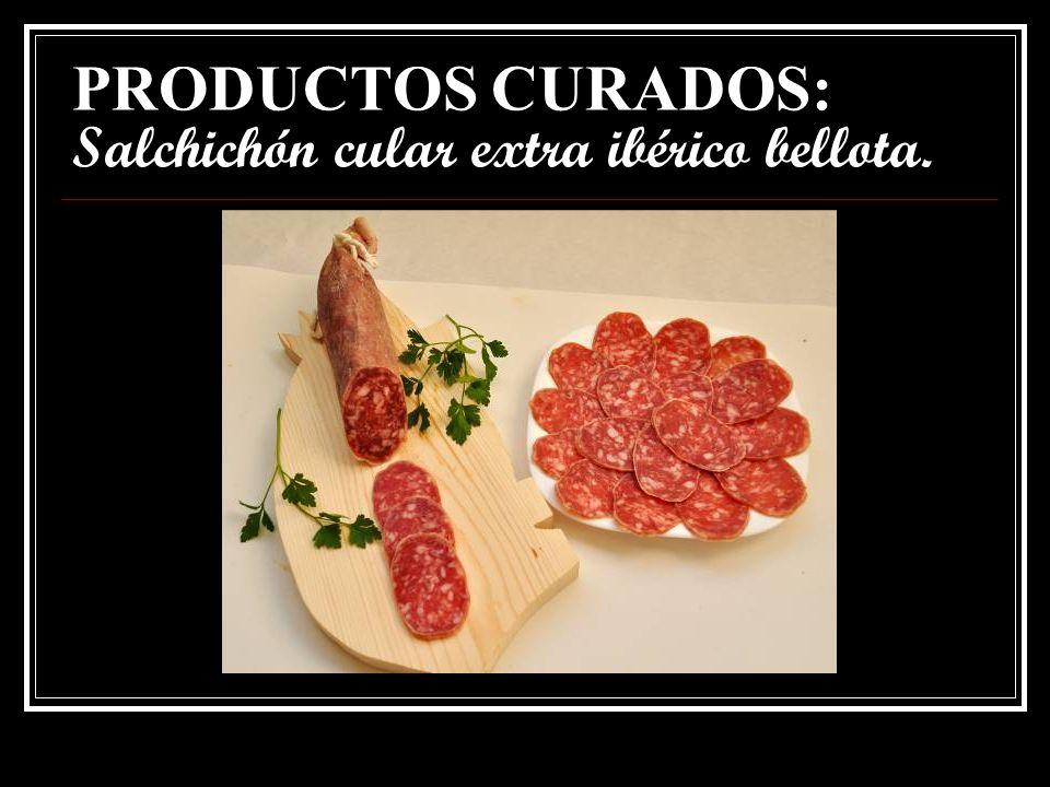 PRODUCTOS CURADOS: Chorizo cular extra de cerdo ibérico bellota.