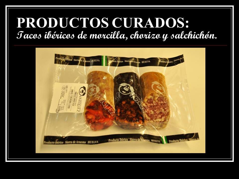 PRODUCTOS CURADOS: Salchichón cular extra ibérico bellota.