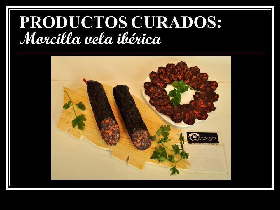 PRODUCTOS CURADOS: Salchichón vela ibérico.