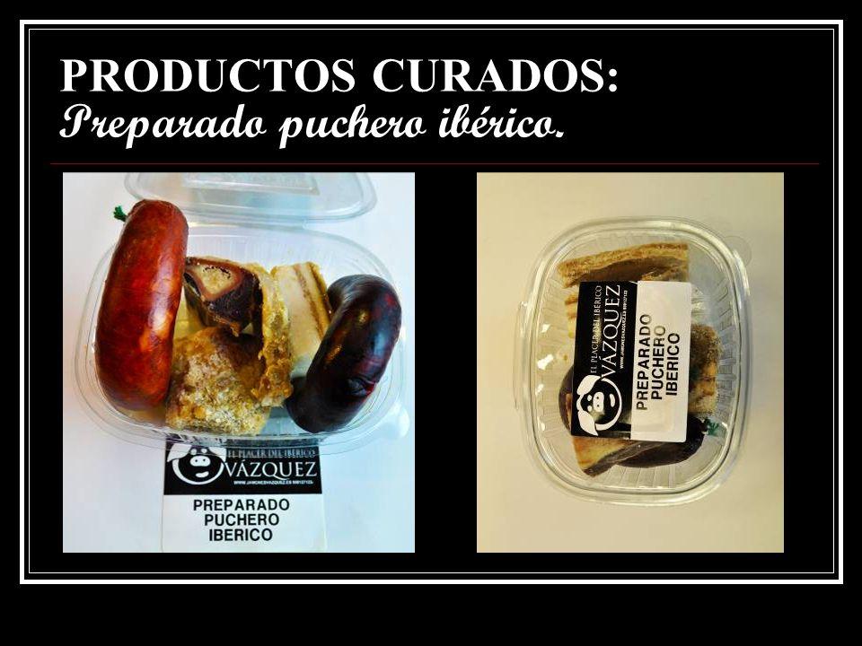 PRODUCTOS CURADOS: LONCHEADOS : chorizo, salchichón y morcilla ibérica
