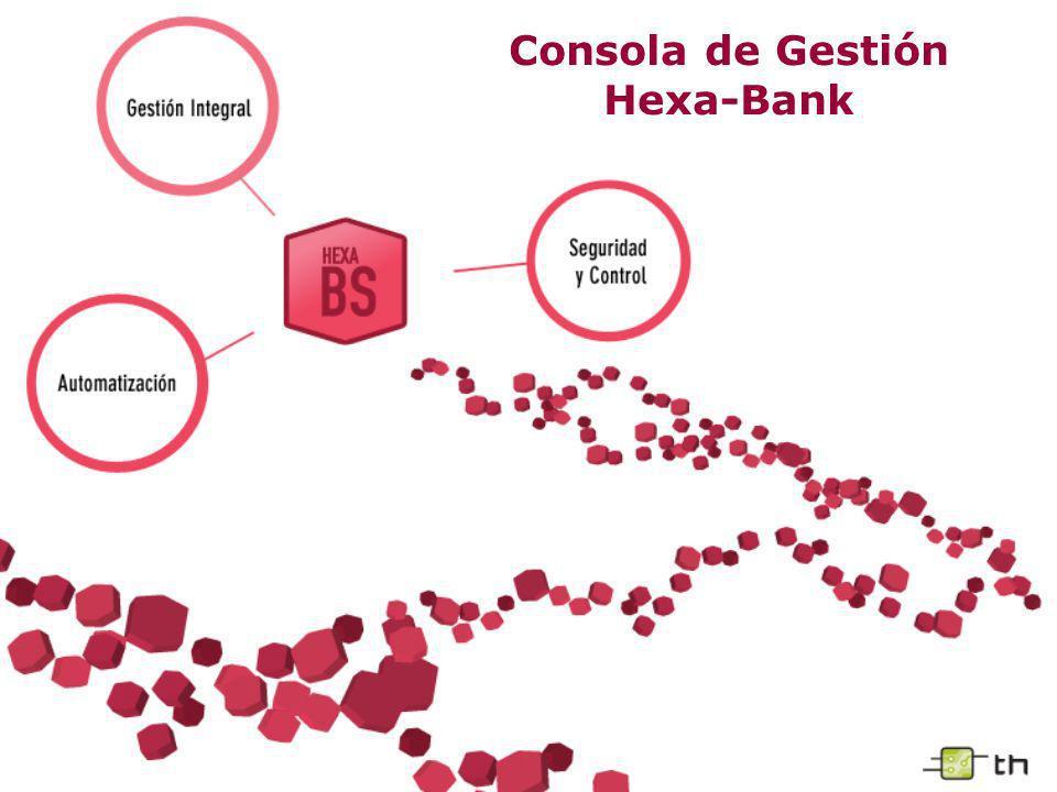 Consola de Gestión Hexa-Bank – Personalización de Consultas Consultas o reportes similares a los ejemplificados pueden ser realizados para el cliente, según sus especificaciones.
