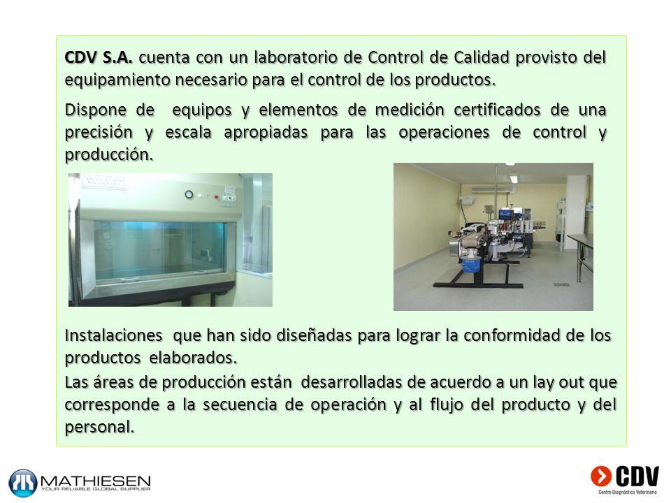Dispone de equipos y elementos de medición certificados de una precisión y escala apropiadas para las operaciones de control y producción. Instalacion